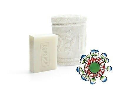 Este jabón tiene el Sello Ambiental y no contamina el agua. Es un regalo del Docxtor Agua por la compra de un filtro para el agua